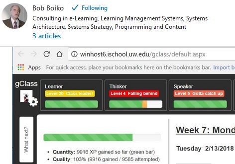 screenshot of linkedin pulse article by Bob Boiko